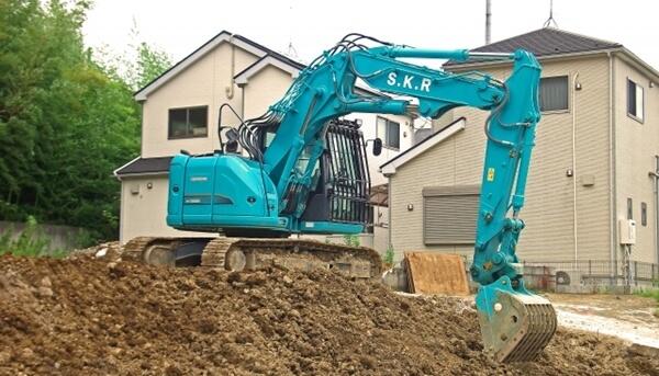 マイホームを建てる土地が埋蔵文化財包蔵地に指定されていたので試掘の作業中