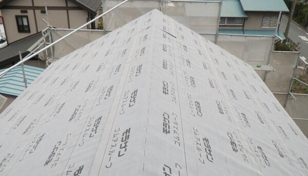屋根の雨漏り防止のために防水シート(改質アスファルトルーフィング)の施工は大切