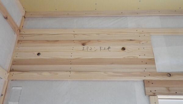 木造在来軸組工法の木工事でのエアコン下地