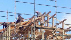 【注文住宅の上棟】木造軸組工法での建て方工事の手順と期間