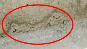 コンクリートの充填不足により起きたジャンカ