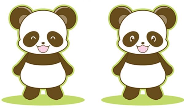 注文住宅と建売住宅の違いをパンダのイラストで表している