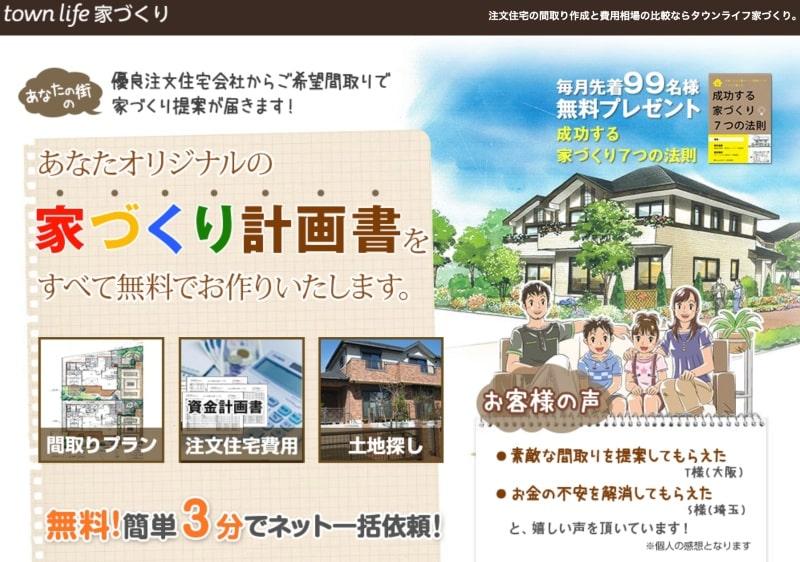 注文住宅の間取り作成と費用相場の比較ならタウンライフ家づくり