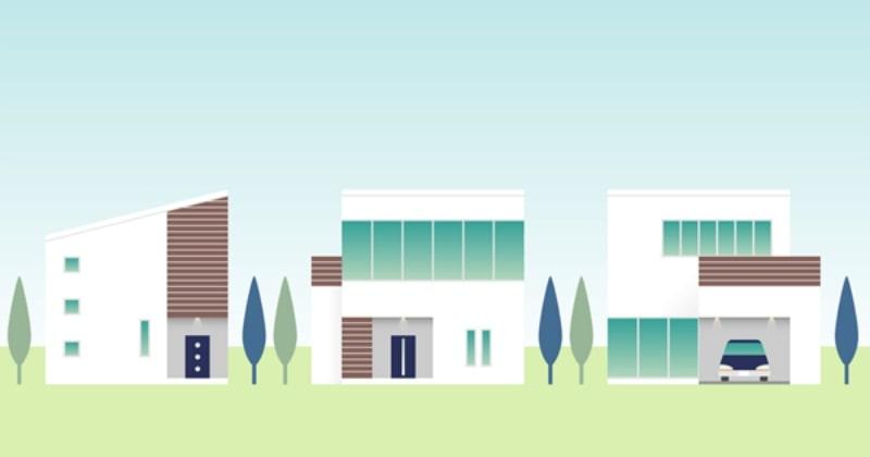 3種類の注文住宅と1種類の建売住宅(分譲)